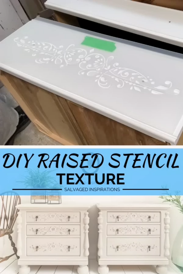 DIY Raised Stencil Texture If you've never tried a