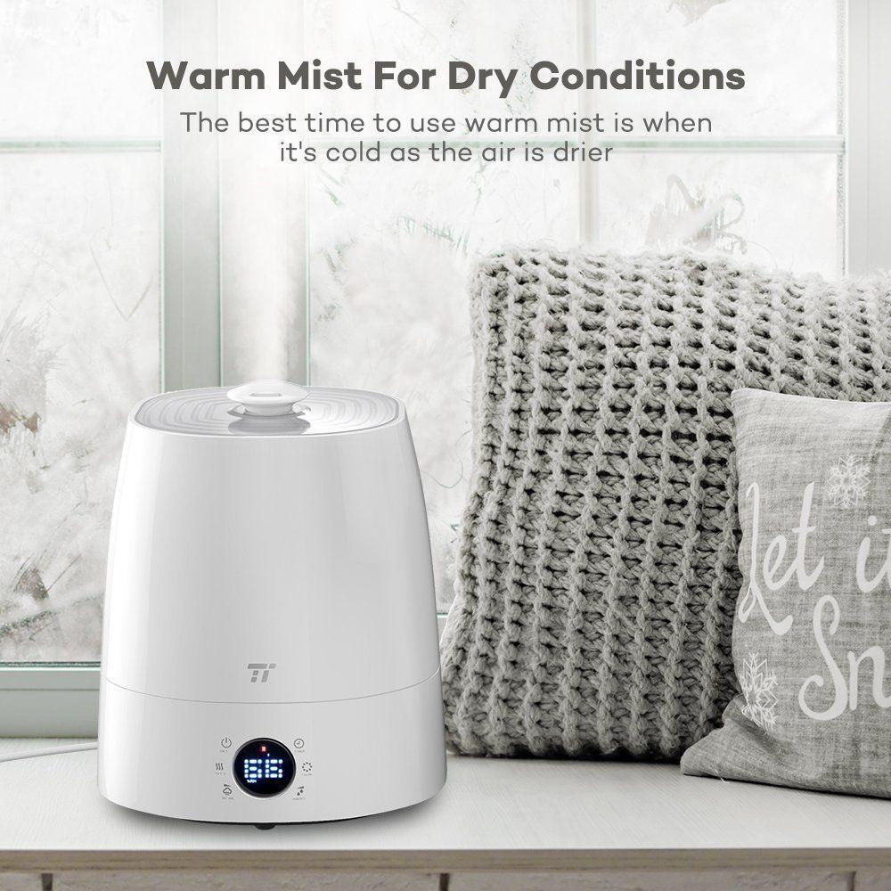 Amazon.com: Warm & Cool Mist Humidifier, TaoTronics Ultrasonic ...