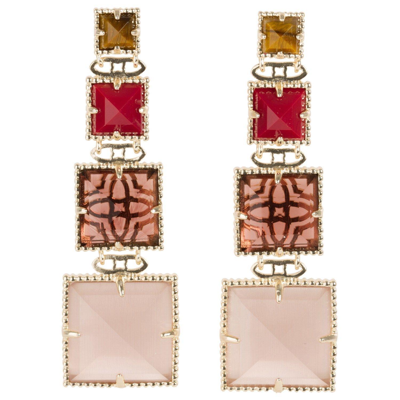 Kendra Scott Serena Red Chariot Earrings.