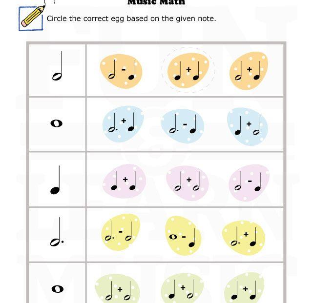 MusicWorksheetsIntervals4th5th002 – Musical Math Worksheets
