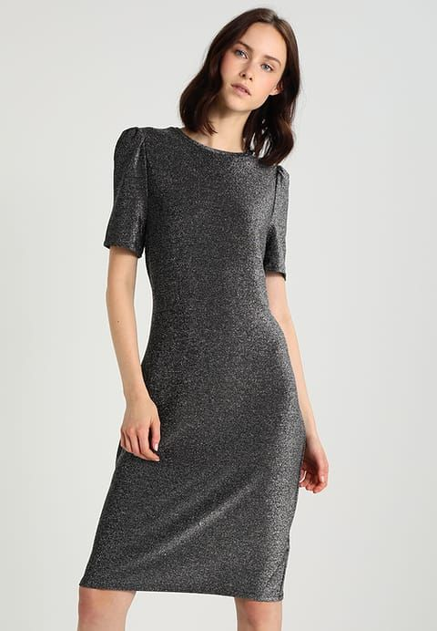 e63466e5217e46 Kleding Dorothy Perkins BODYCON SHORT SLEEVE - Cocktailjurk - metallic  zilverkleurig  € 31