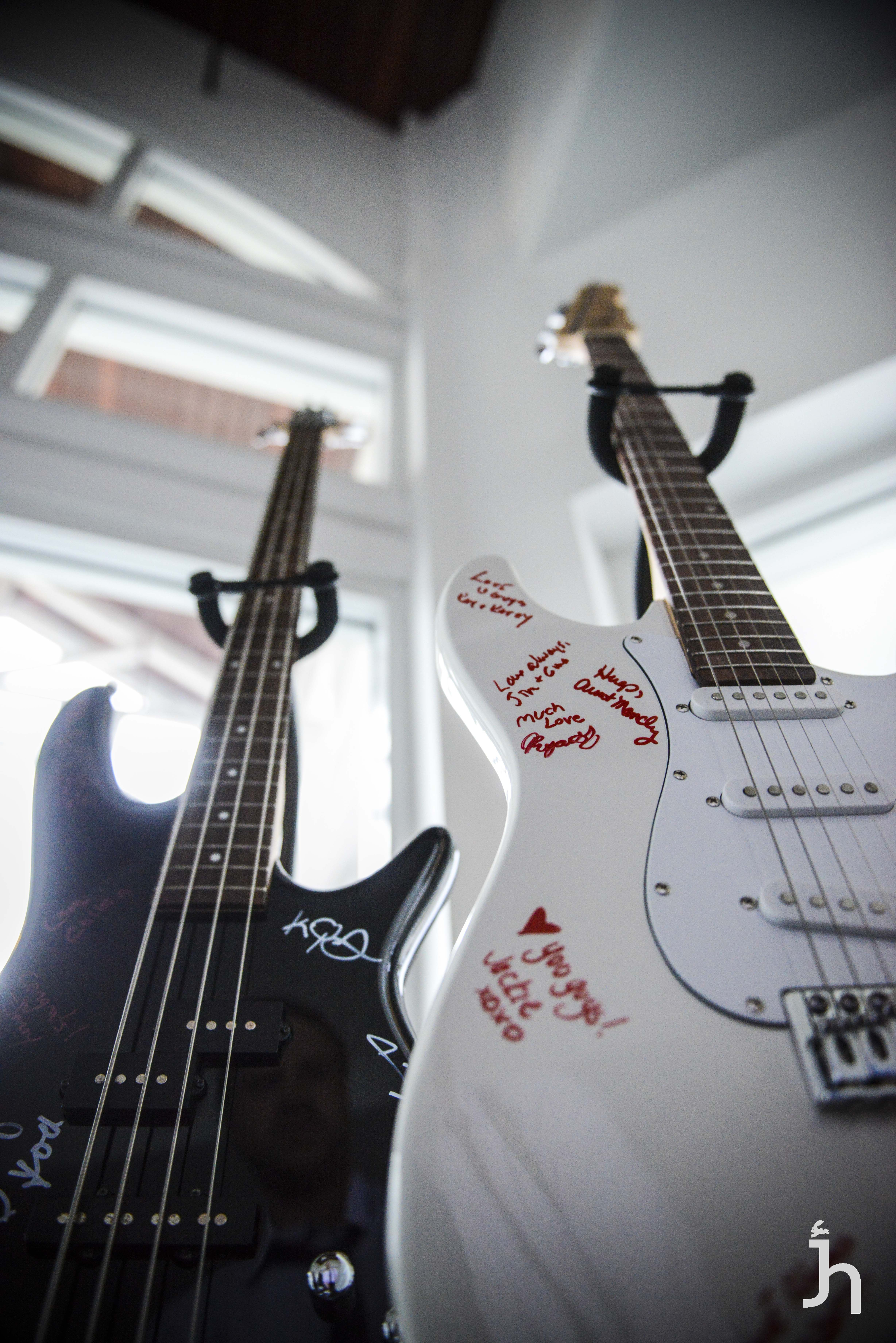 great wedding signing book idea..use guitars! rock and roll wedding ...