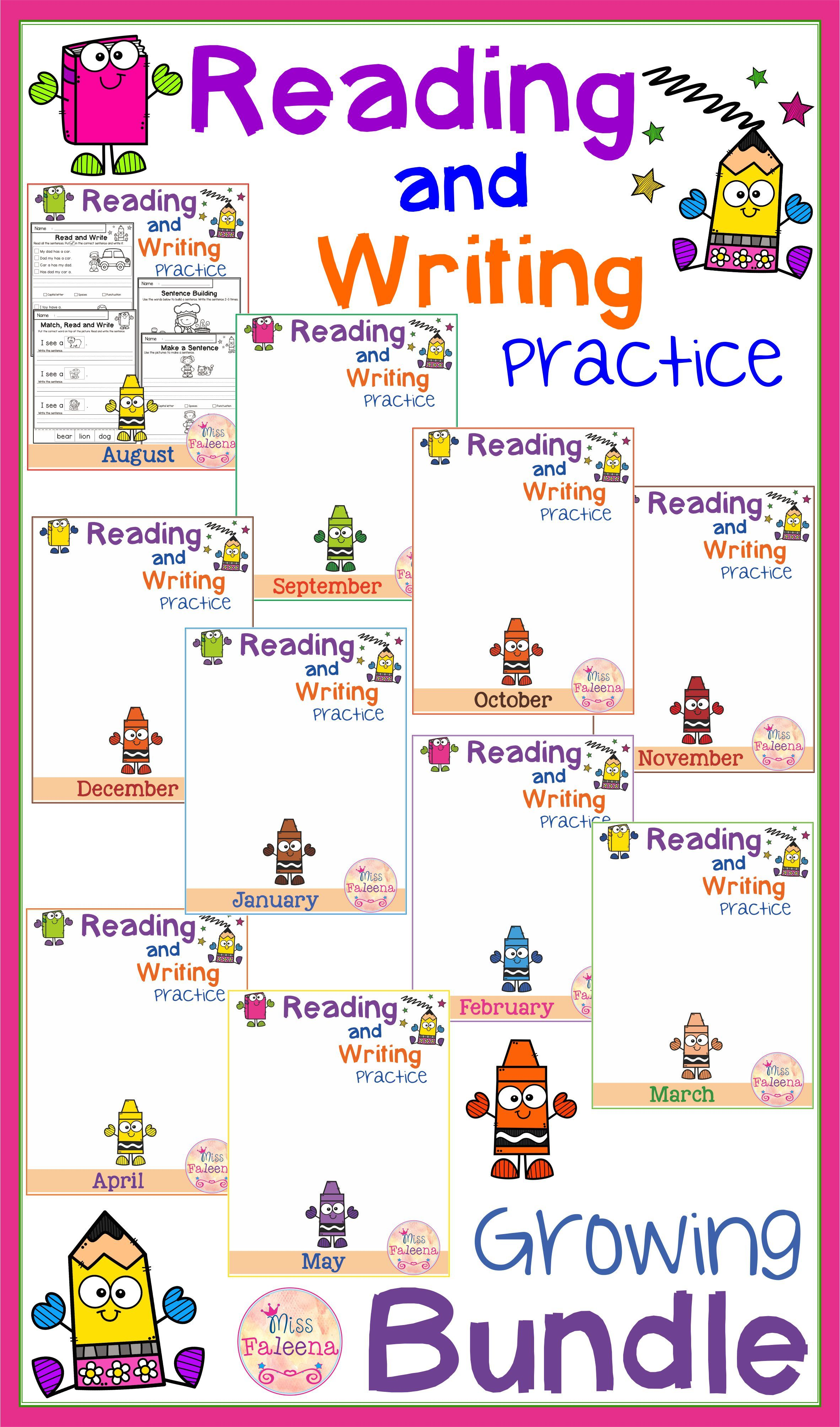 Reading And Writing Practice Bundle With Images
