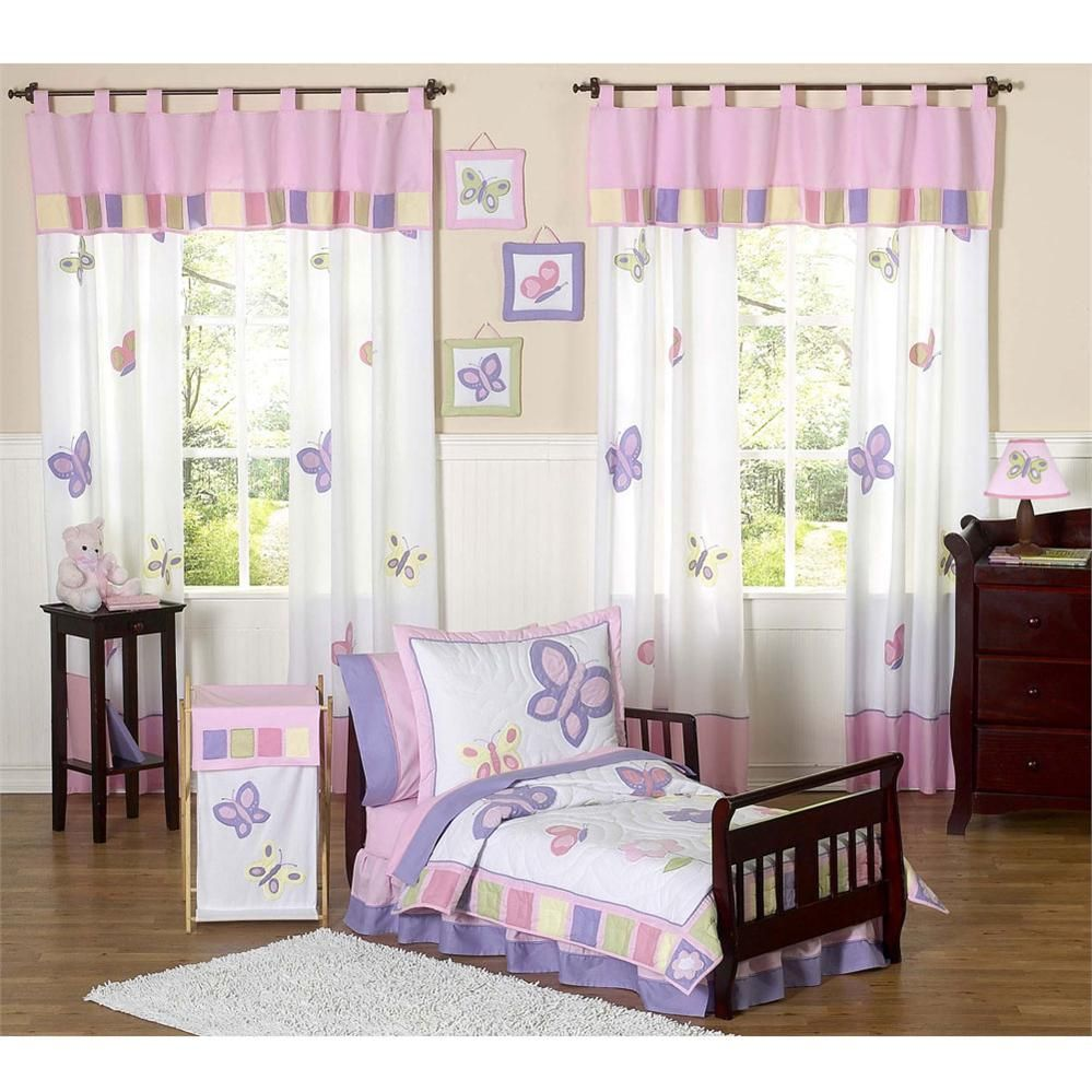 Butterfly Pink And Purple Toddler Bedding Set By Jojo Designs In