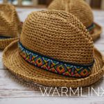 Crochet a Cute Devon Fedora, Must Make For a Baby or an Adult! #fedoras