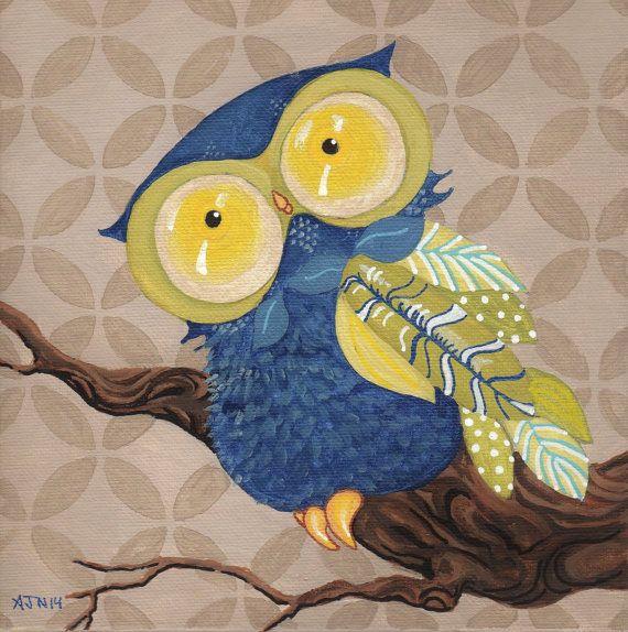 Blue Owl Giclee Print