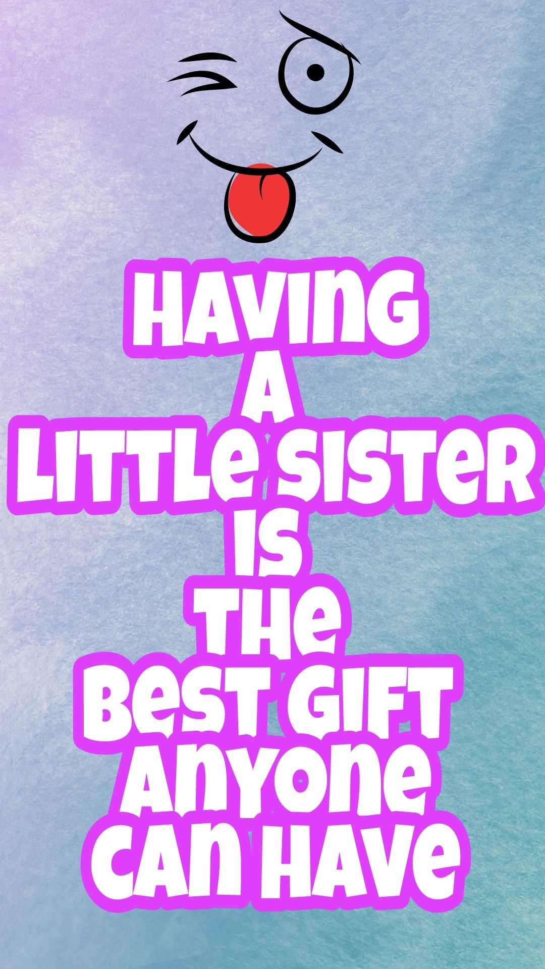Little sister love ..! Best sister . Sister quotes | Cute ...