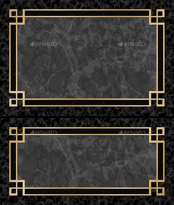 Two Black Marble Backgrounds With Gold Frames Borders Aspect Ratios 3 2 2 1 Fu In 2020 Marble Frame Black Marble Background Marble Background