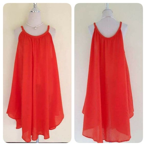 Orange Dresses loose/Casual/Summer Dresses/Plus Size by MadeDress ...