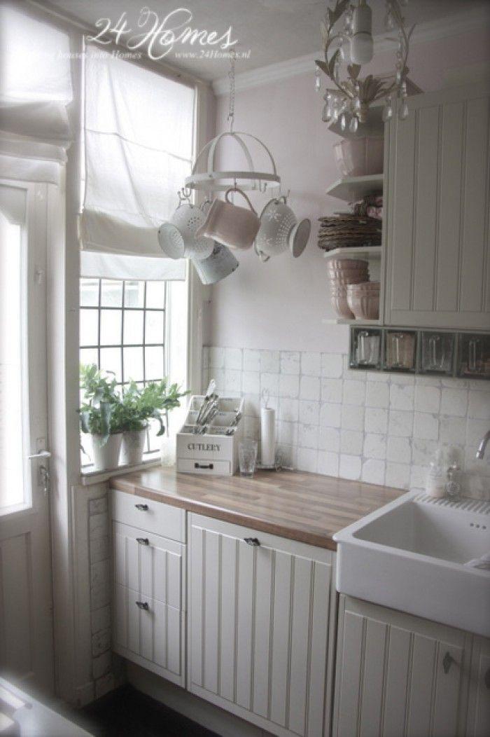 Ländliche Küche ganz nach meinem Geschmack Home Pinterest Fotos - küche gardinen landhausstil