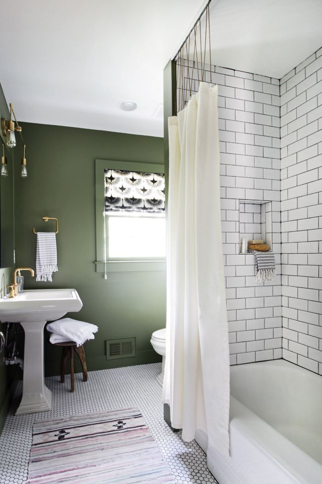 Bathroom Shower Track With Ball Chain Modern Shower Curtains