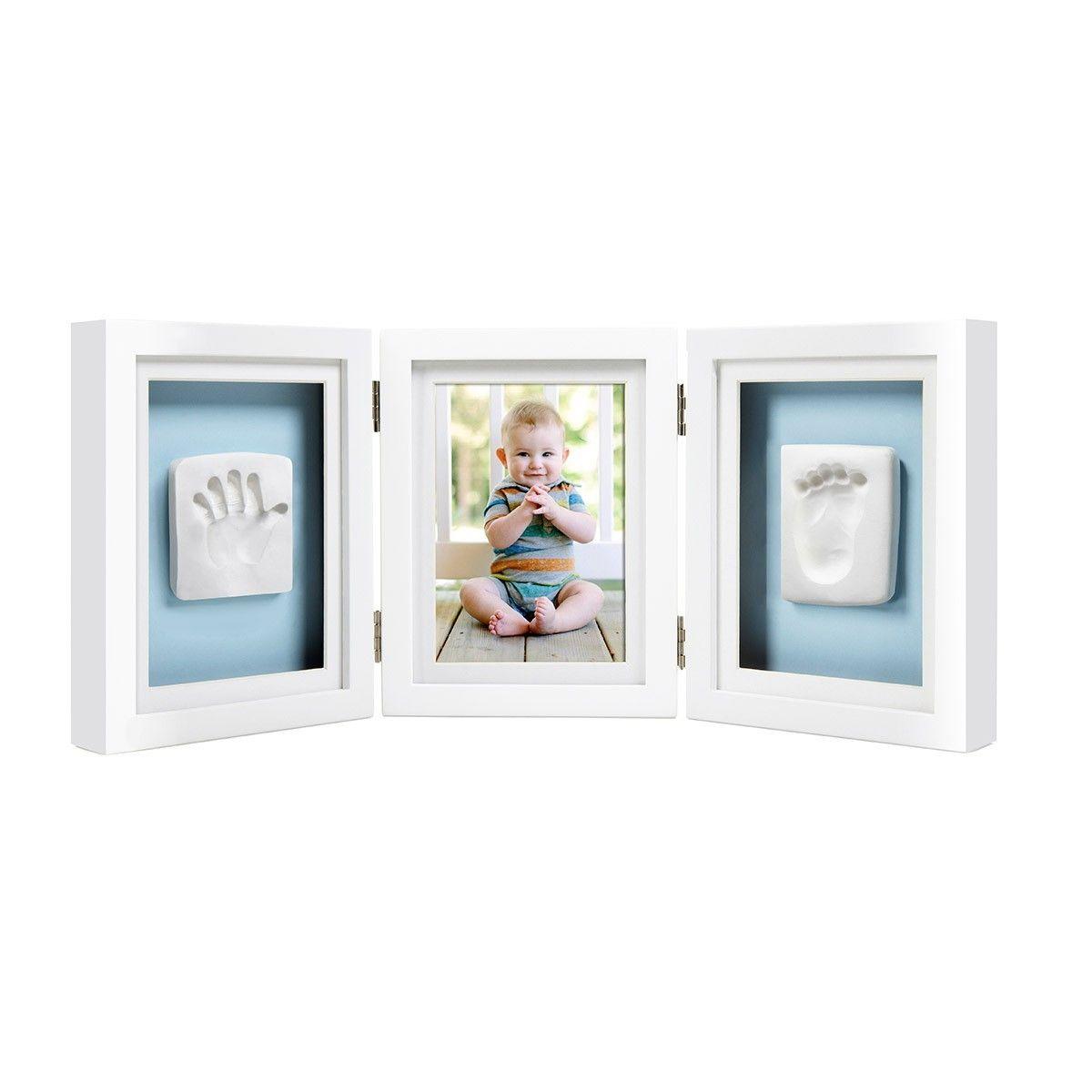 Marco de escritorio-huella de bebé. Impresión de huellas | Regalos ...