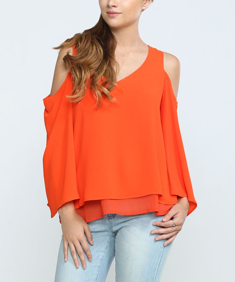 Look what I found on #zulily! Flying Tomato Scarlet Cutout Layered Top by Flying Tomato #zulilyfinds