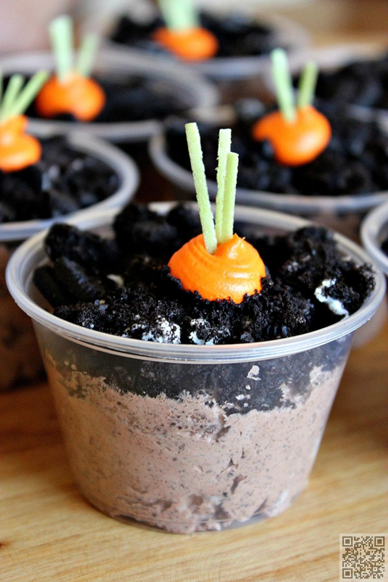 2. #Carrot Patch #Pudding Cups - 8 Homemade Easter #Treats ... → Food #Easter