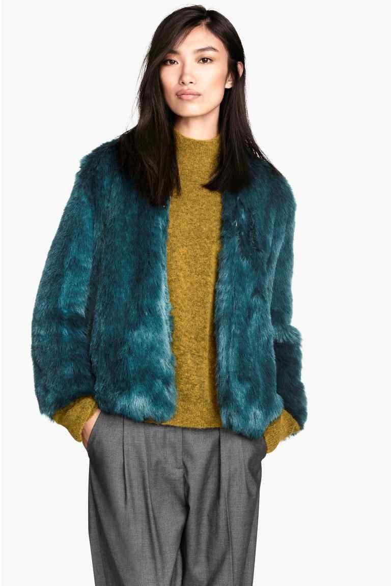 Manteau femme couleur turquoise