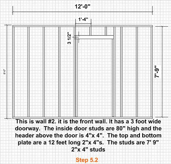 Build A Shed Building A Shed Shed Door Studs