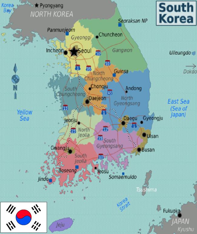 South Korea Korea Seoul Korea Map South Korea Travel