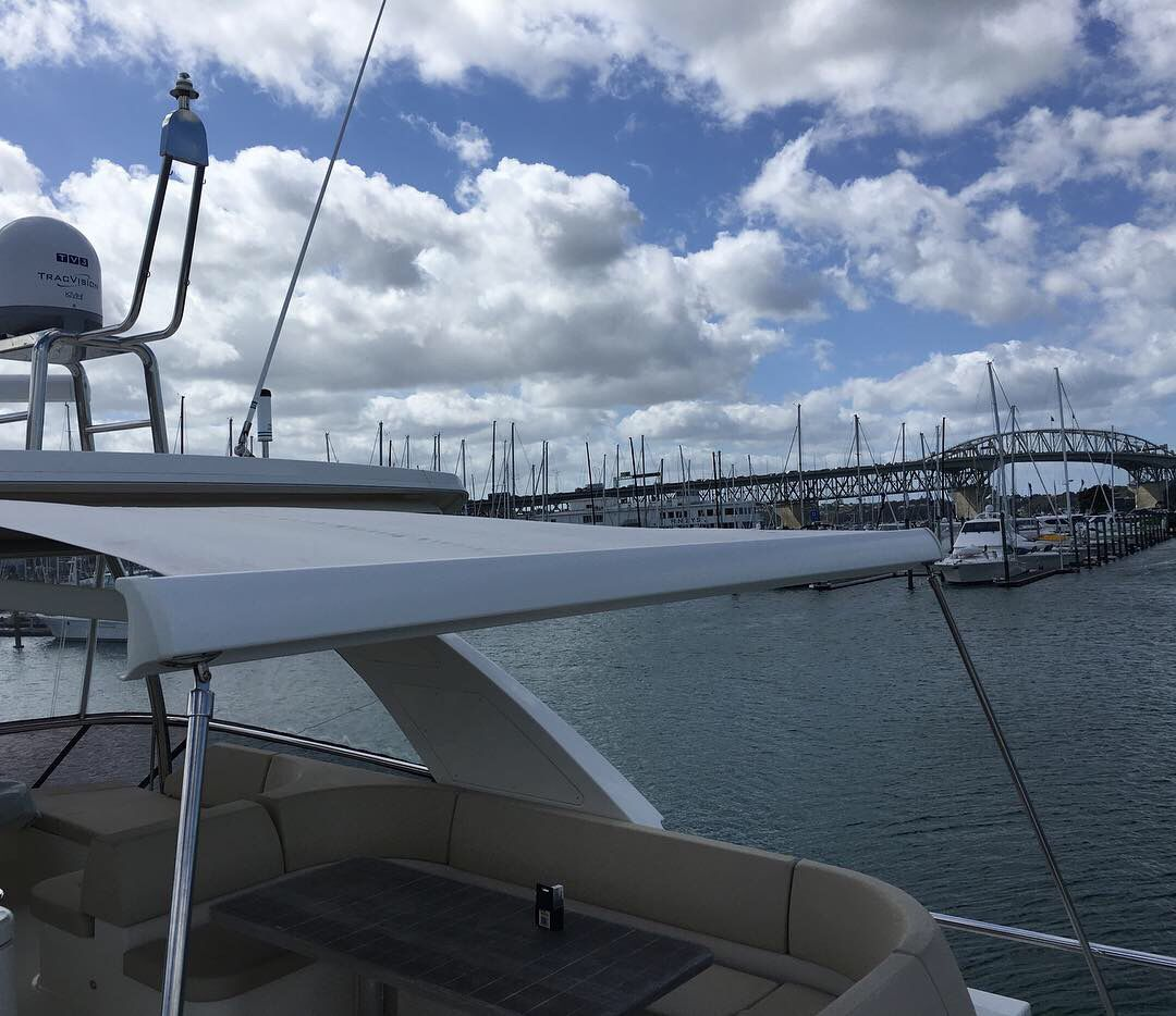 Integral Cassette Awning On A Yacht In Auckland Boat Wall Retractable Awning Awning