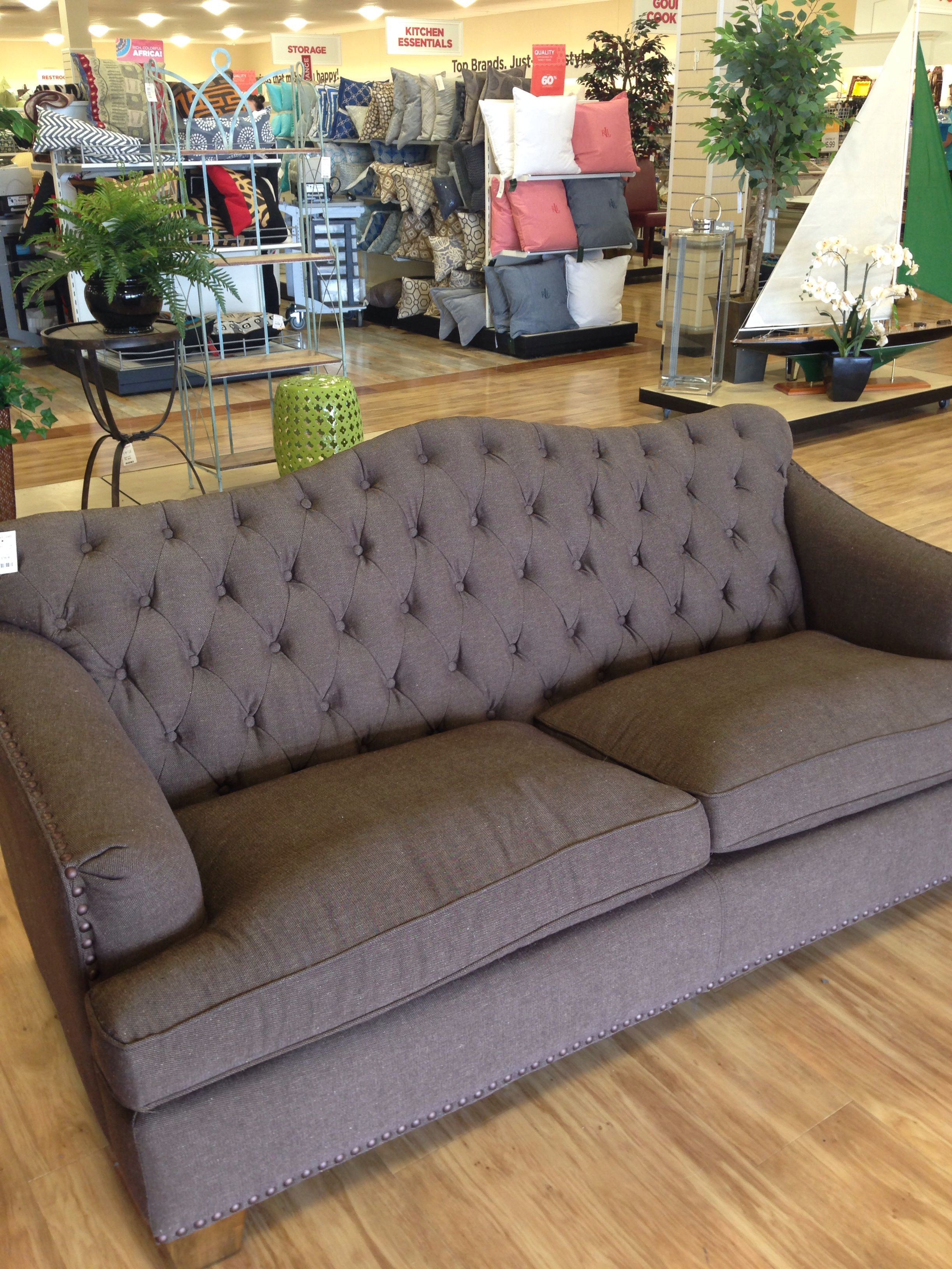 Tufted Sofa Home Goods Decorating Tips
