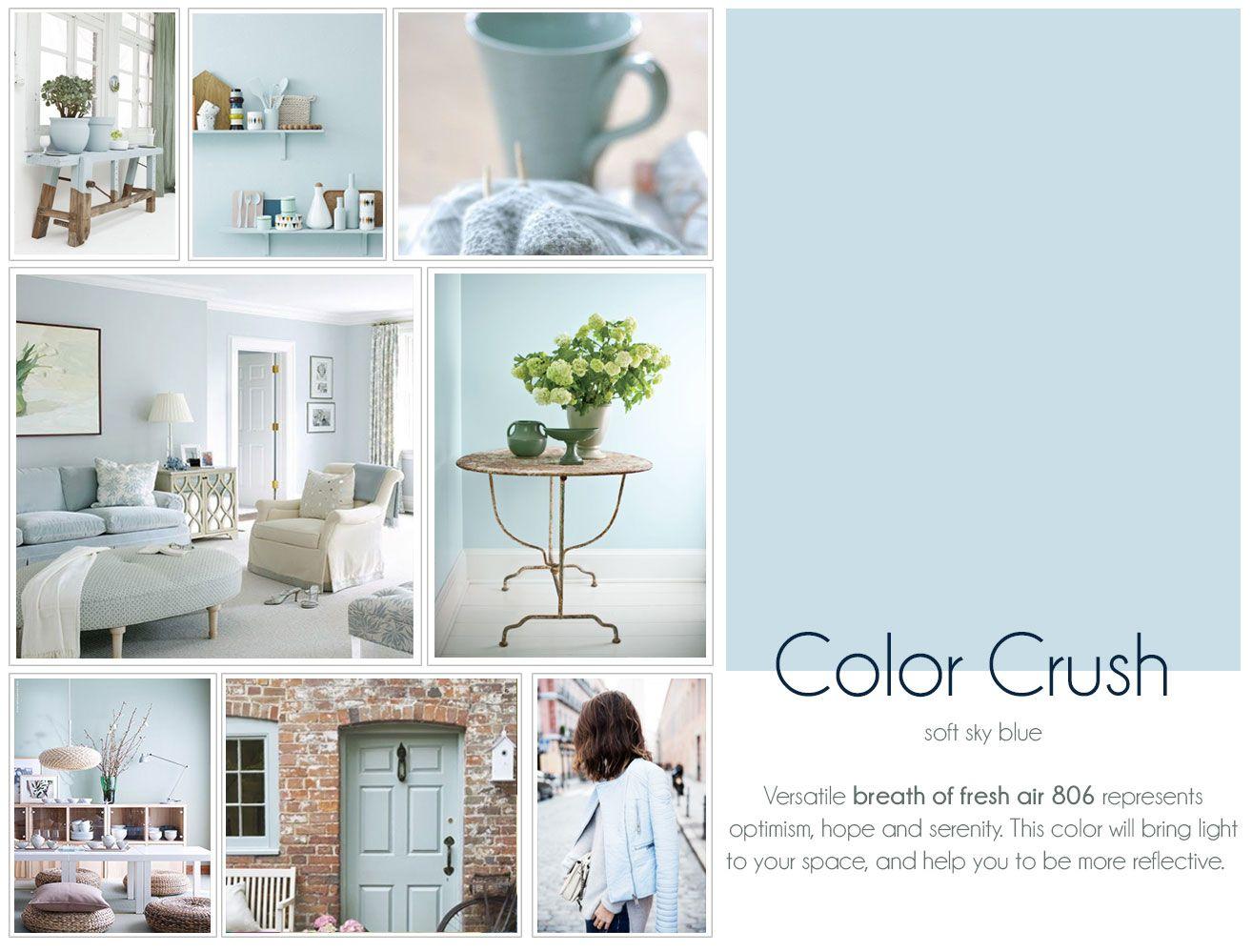 Color crush breathe of fresh air lightblue stylyze for Benjamin moore breath of fresh air