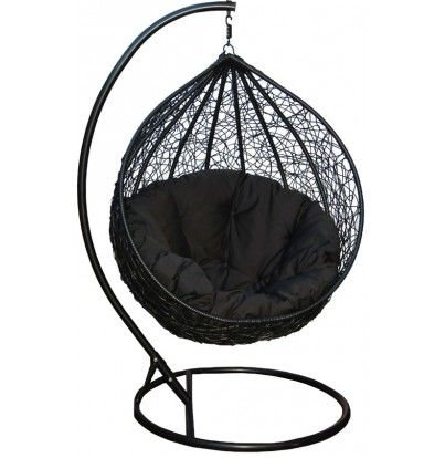 hanging egg chair swing chairs all black wicker outdoor living living