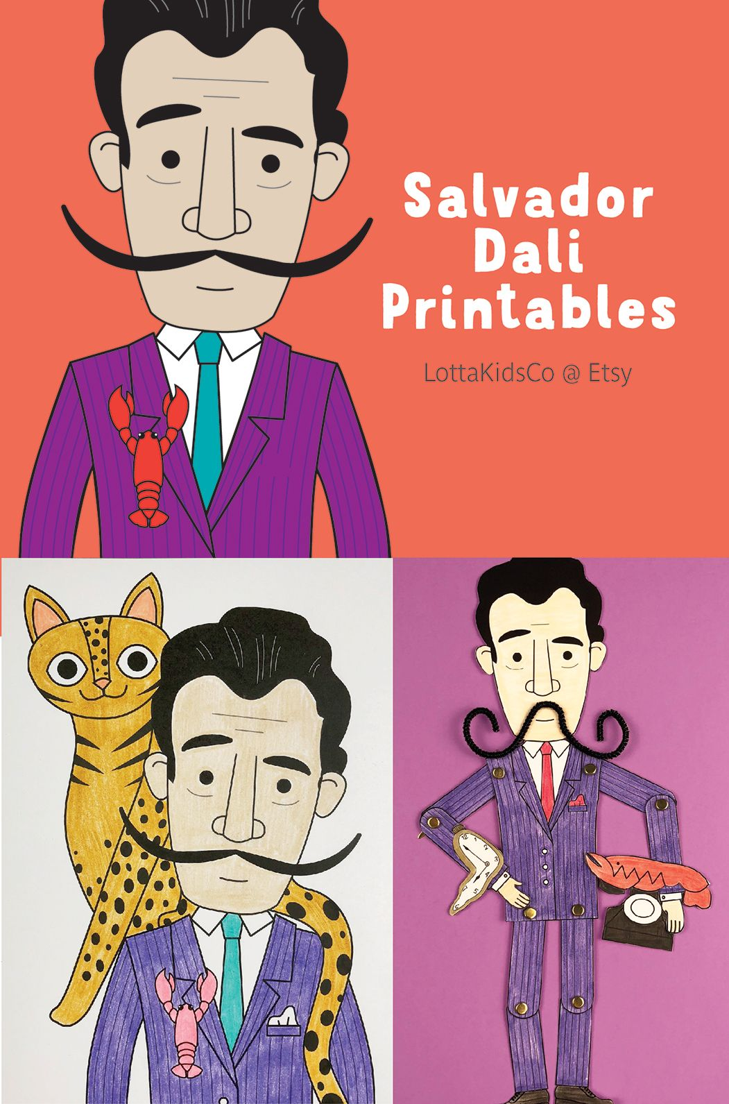 Salvador Dali Printables For Kids Posters Coloring Pages