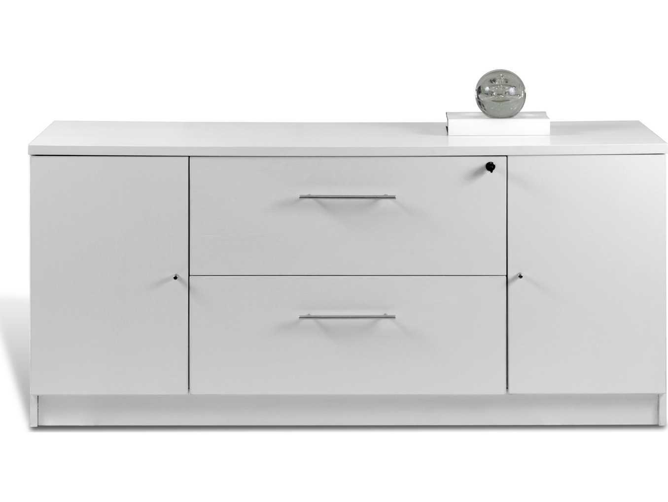 Credenza Per Hume : Unique furniture 100 series white 63 x 20 storage credenza