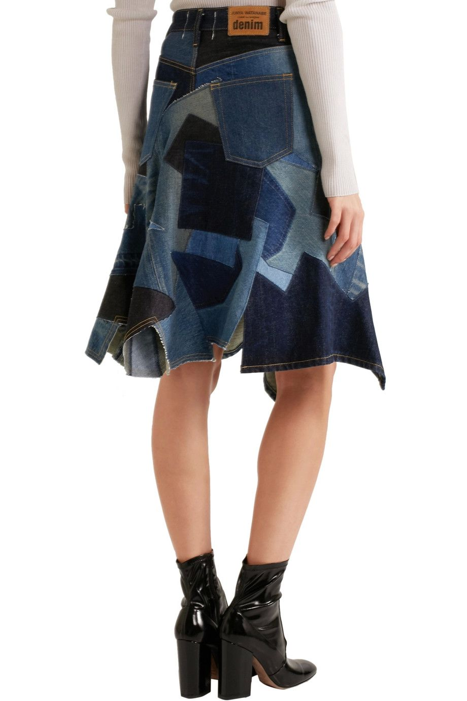 240ca622ab Shop on-sale Junya Watanabe Patchwork denim skirt. Browse other discount designer  Skirts & more on The Most Fashionable Fashion Outlet, THE OUTNET.COM