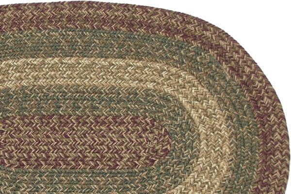 Machusetts Charles Burgundy Sage Runner Braided Rug Made In America And Ships Free