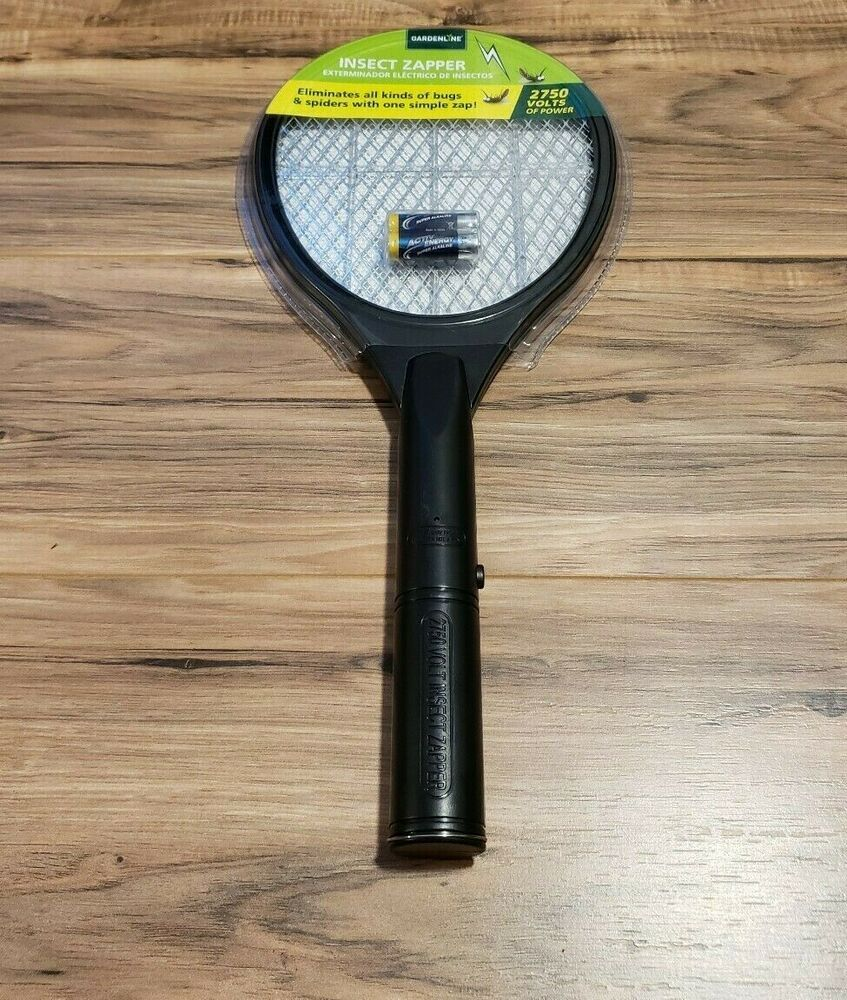 Gardenline Insect Zapper 2750 Volts Of Power Eliminates Bugs With One Zap Gardenline Tennisracquetstyle In 2020 Insects Bugs Zap