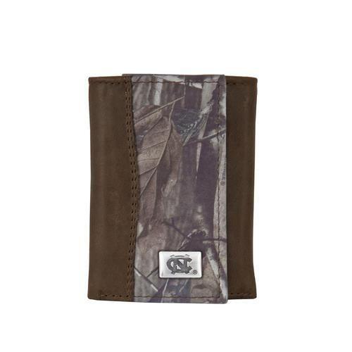 Realtree Camo North Carolina Tarheels UNC Tri-Fold Wallet