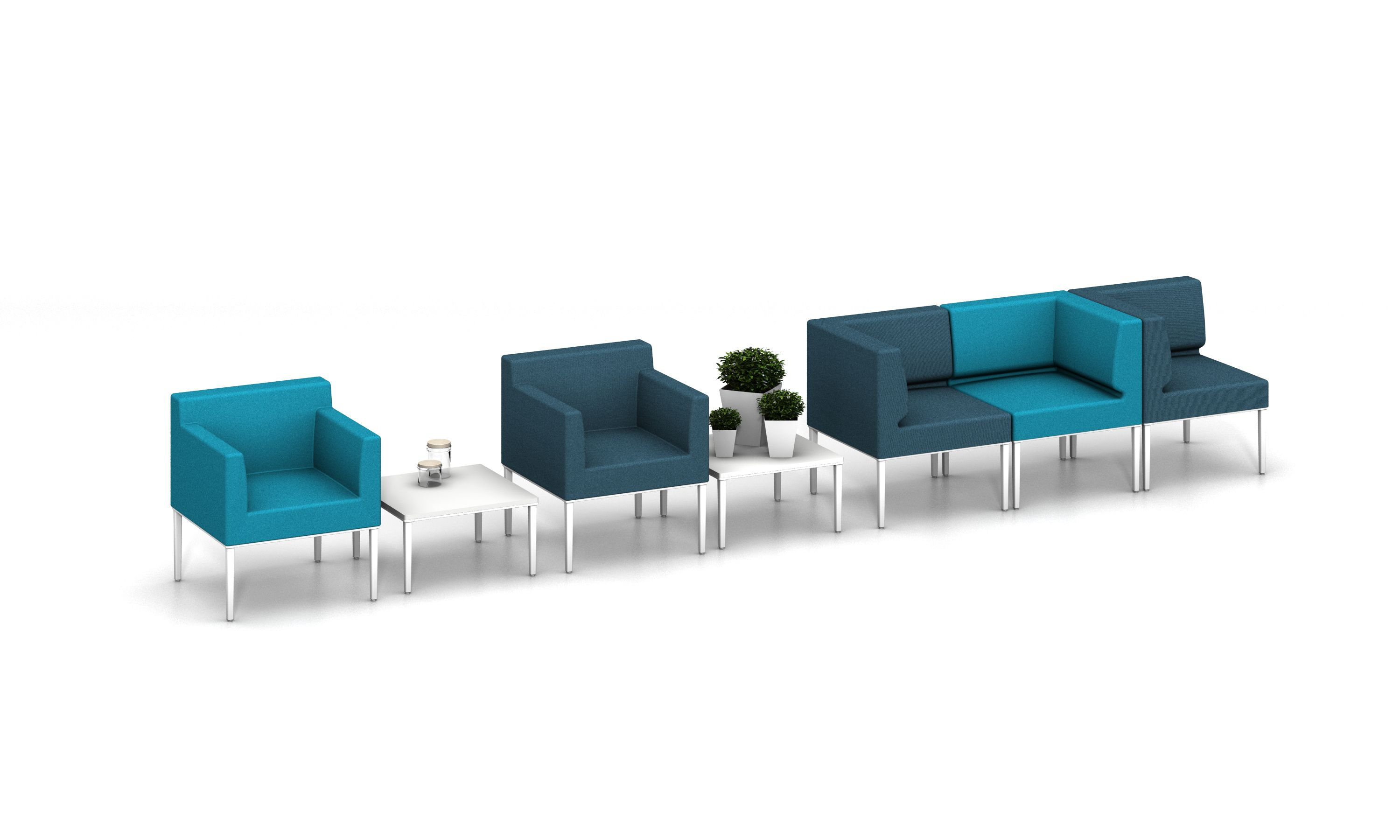 ACTIU LONGO NOMADA soft seating collection by Ramos & Bassols
