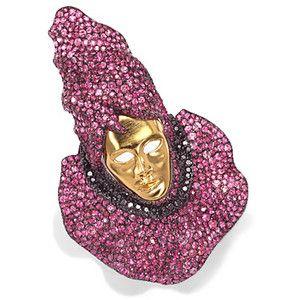 de GRISOGONO Brooch, Designer Jewelry, de GRISOGONO jewelry, Pink Sapphire Brooch