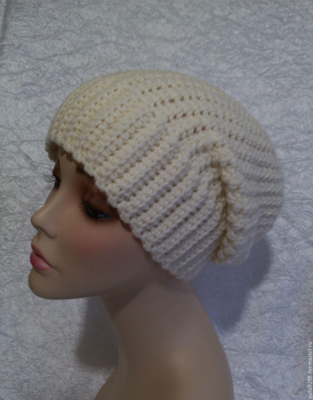 вязаные тёплые женские шапки крючок спицы фото схема