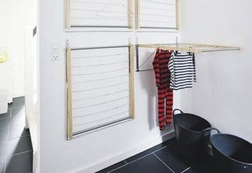 we like this idea for creating an instant indoor drying room recreate the look with four wall. Black Bedroom Furniture Sets. Home Design Ideas