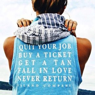 The Island Company Quit Your Job Tank Top