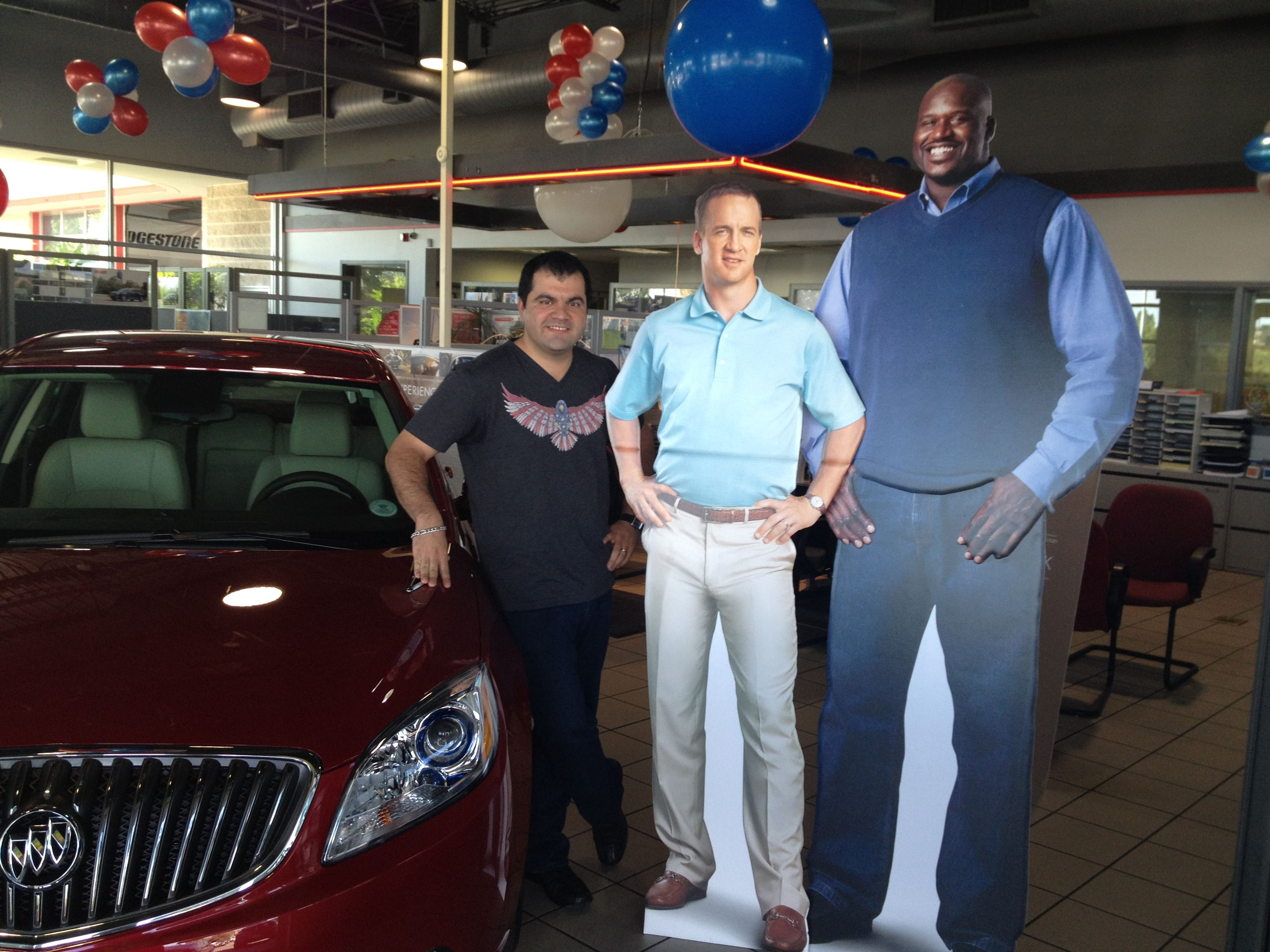 Peyton Manning And Shaquille O Neal At Alpinebuickgmc Shaquille