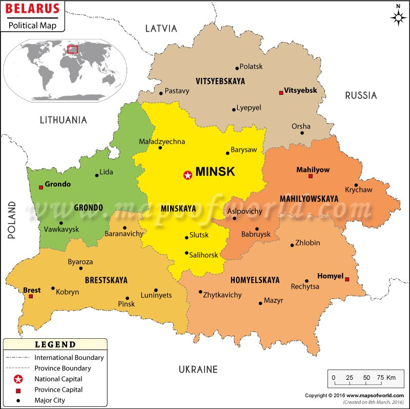 Political Map of Belarus belarus Pinterest
