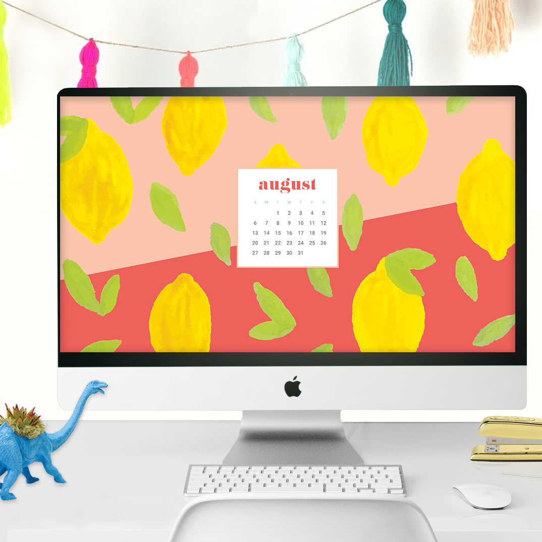 download some cute and summery free august calendar wallpapers