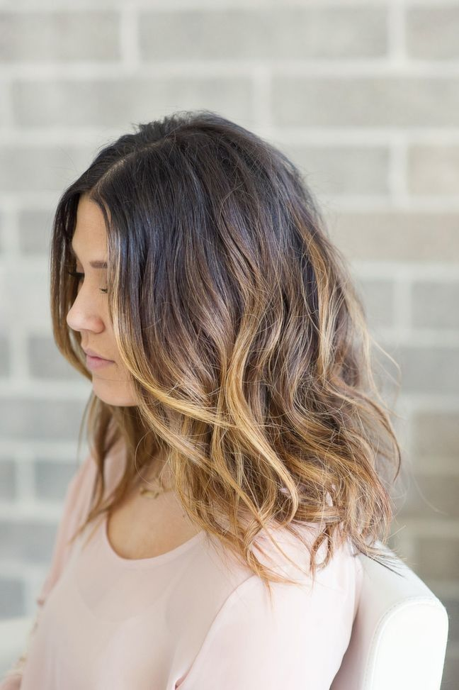 Cheveux Mi Long Ombre Hair Coupe de cheveux, style de