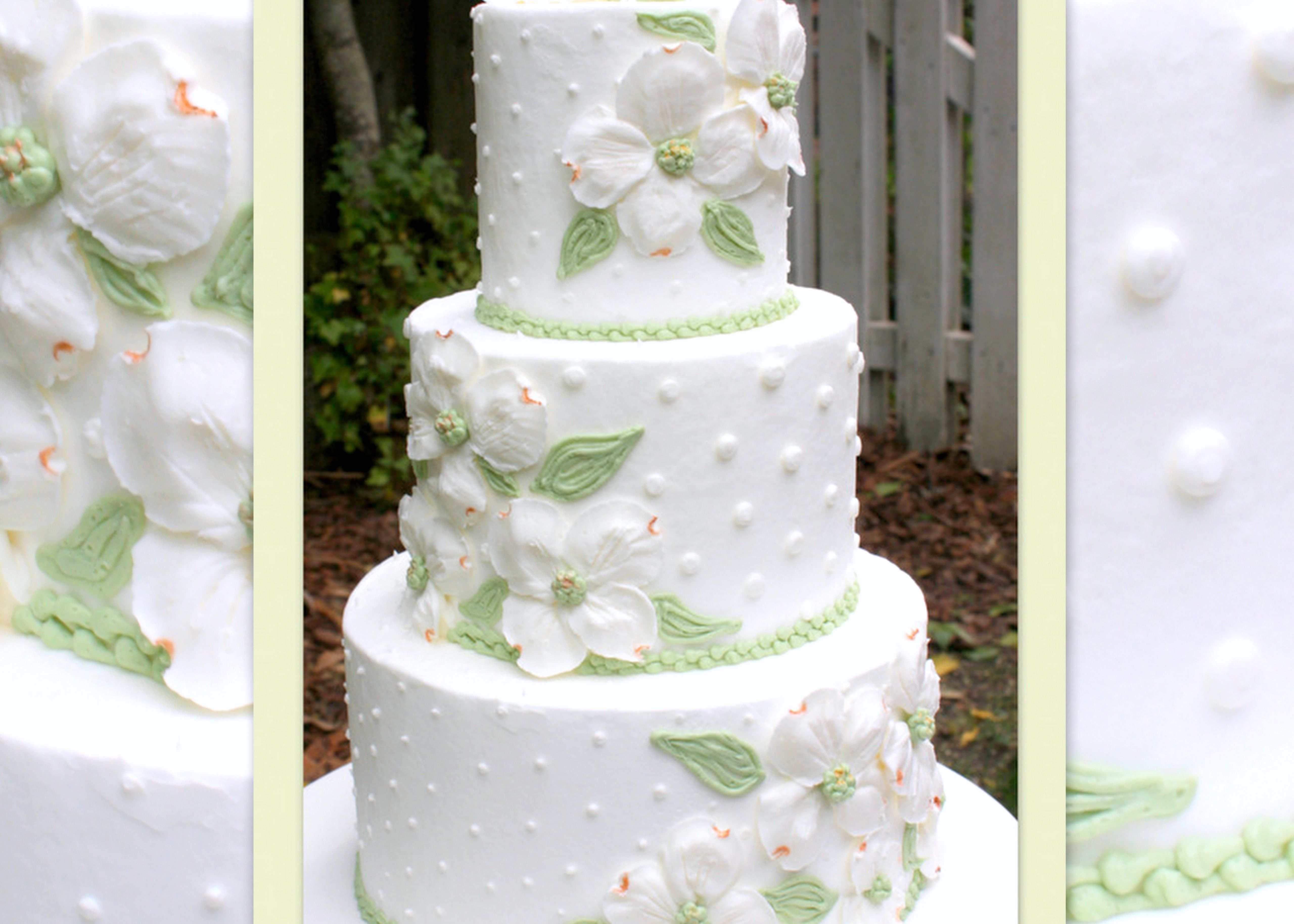 Dogwoods in Buttercream-Cake Decorating Video Tutorial #cakedecoratingvideos