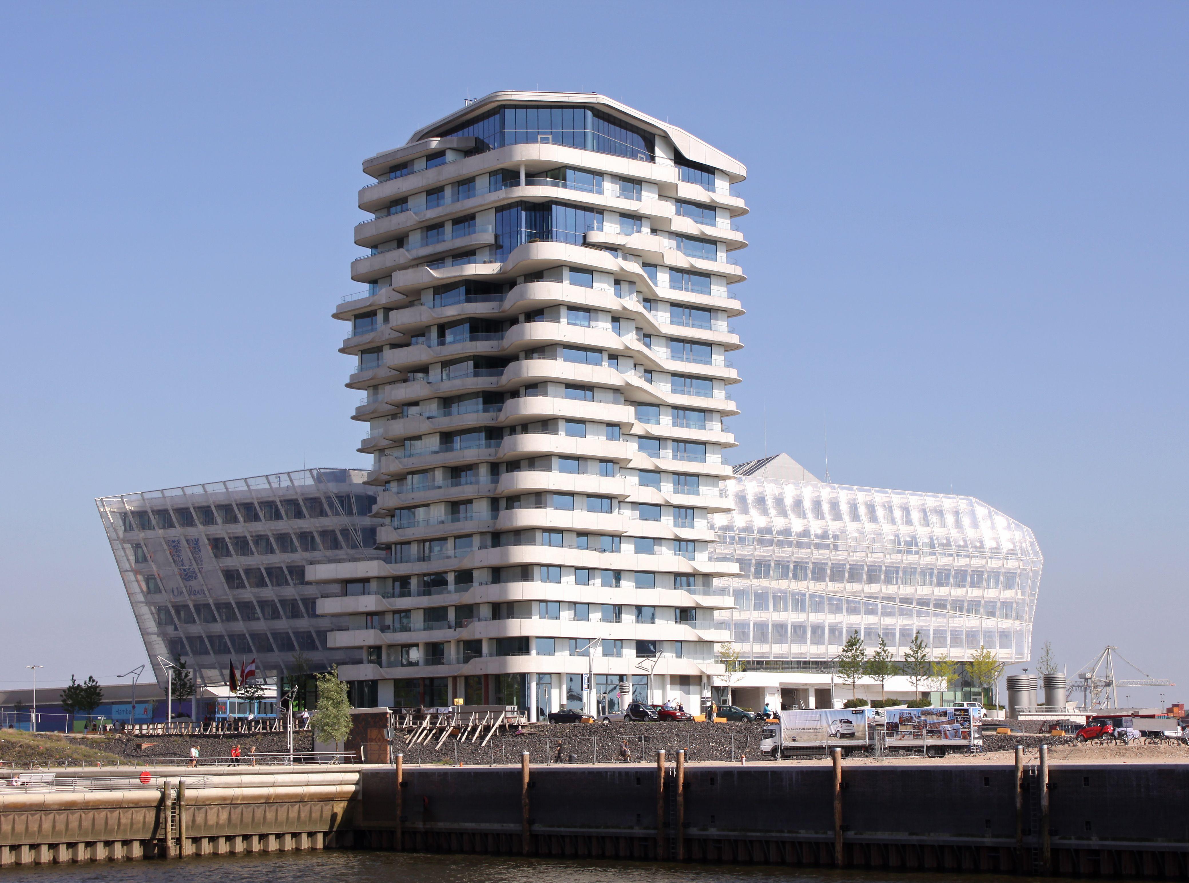 Hamburg Marco Polo Tower marco polo tower hamburg 公寓表皮 architecture