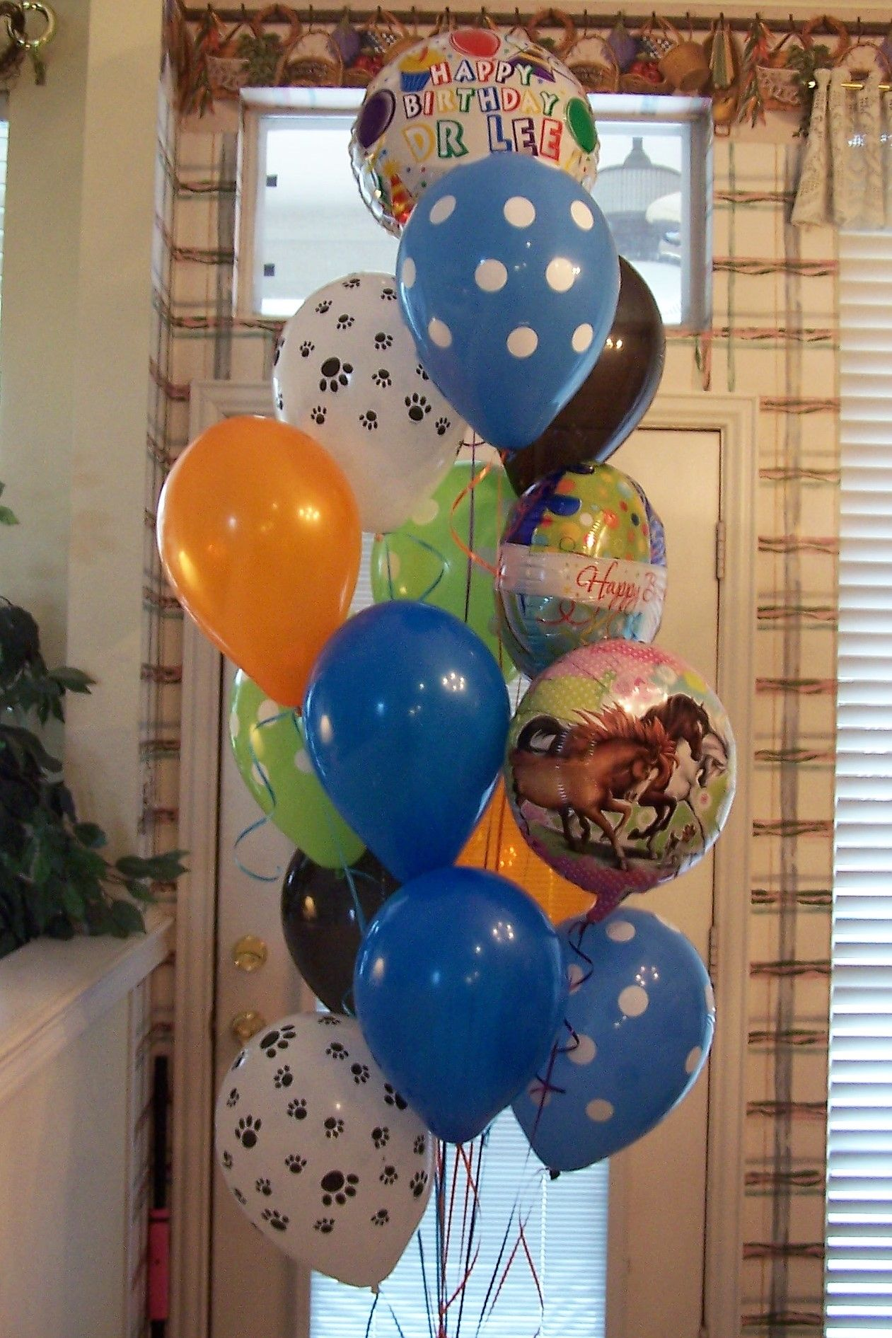 A birthday balloon bouquet for our local vet in krum we