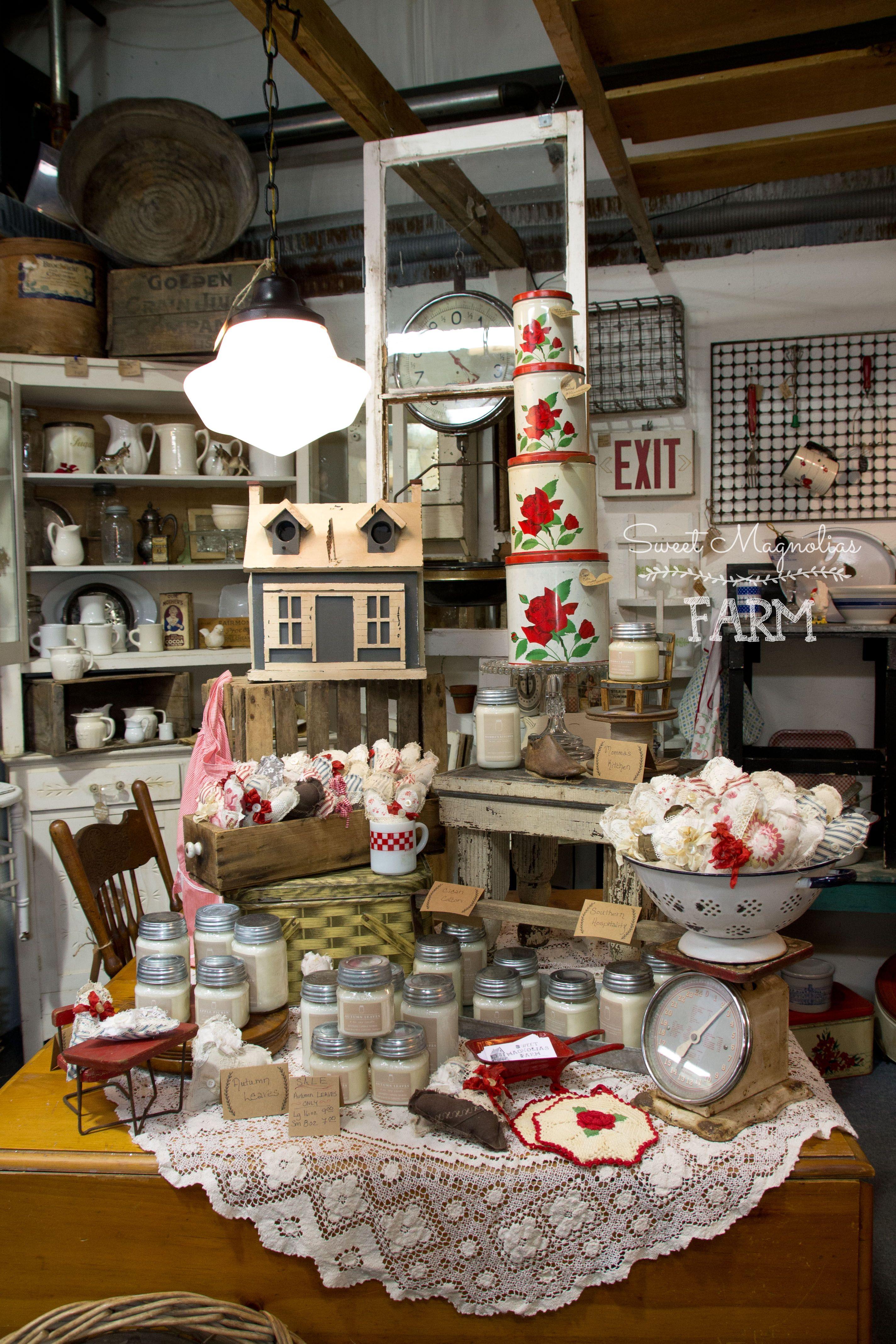 Sweet Magnolias Farm Shop Display Vintage