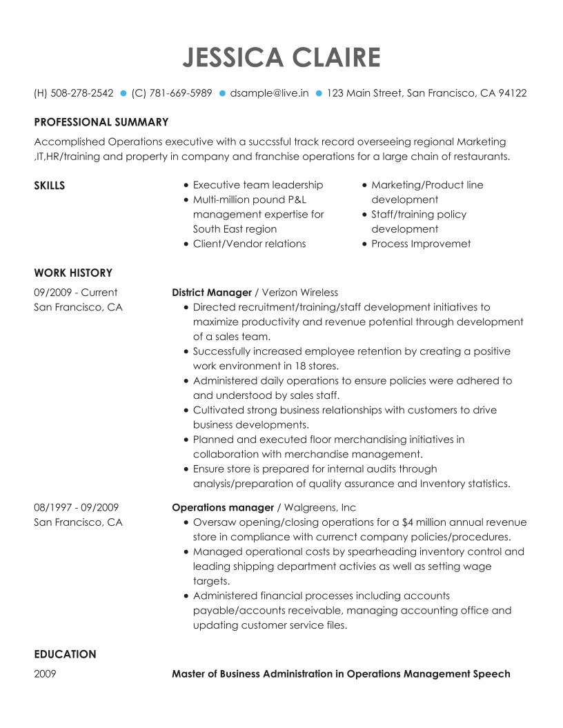 Choose Template My Perfect Resume Resume templates
