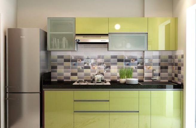 A simple minimal one wall kitchen cab design withpact ...