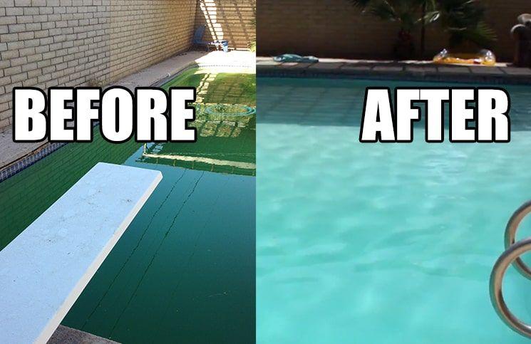 How to clean a green pool saltwater pool salt water