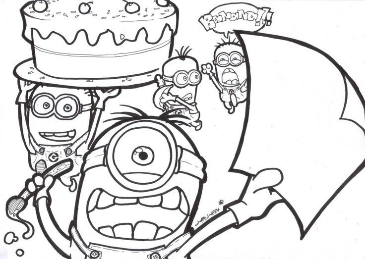 Free Printable Despicable Me Coloring Pages Online Minion Coloring Pages Minions Coloring Pages Coloring Pages