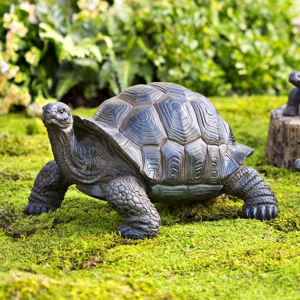 This Delightful Tortoise Trio Will Slowly And Steadily Make Their Way Into Your List Of Garden Gracing Favorites Cast In Garden Statues Tortoise Turtle Decor