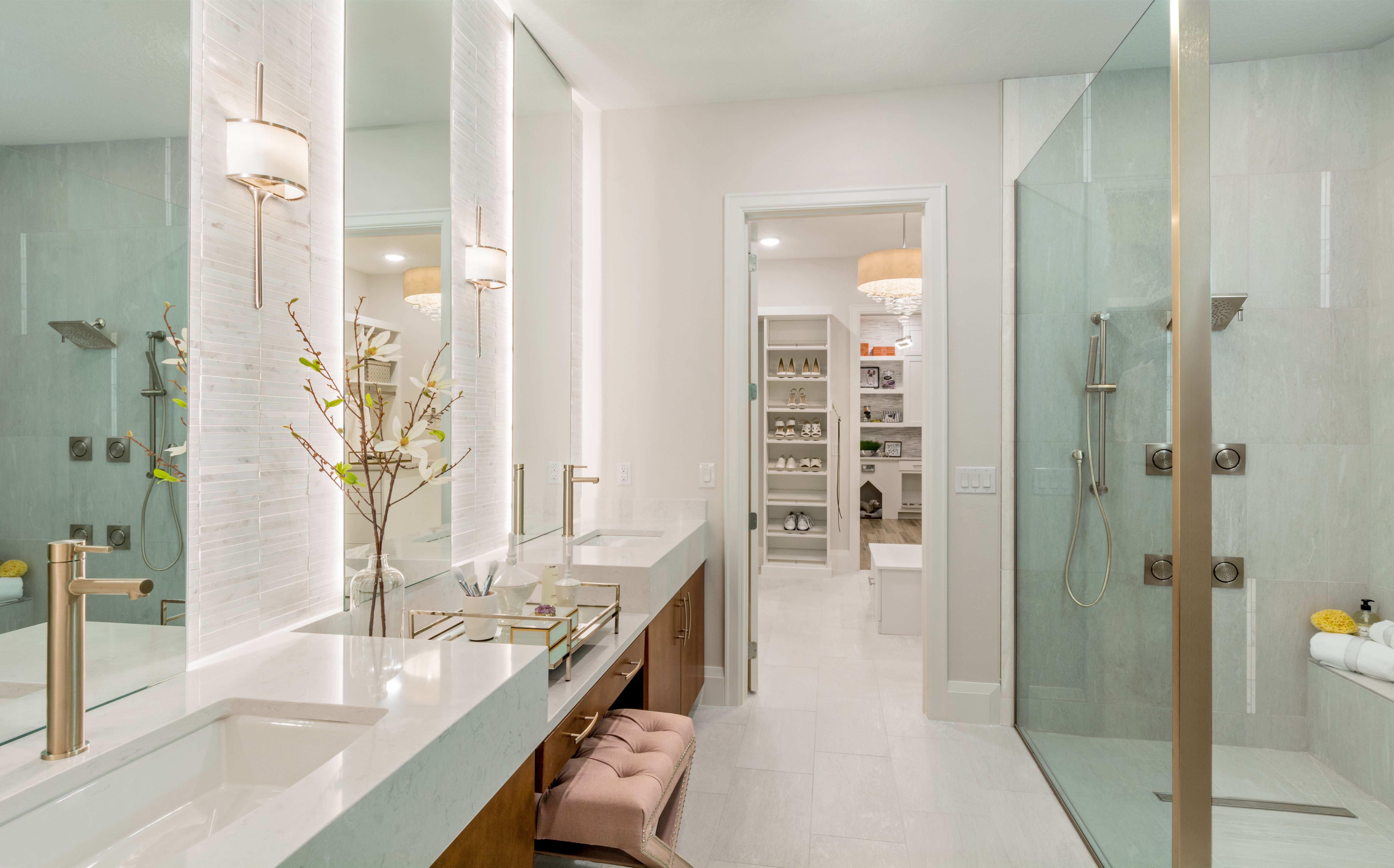 Interior Design in Orlando Fl master bathroom. Next Adventure home. Dual vanity Bathroom. & Home in 2019 | Bright u0026 Bold Bathrooms | Interior design Design